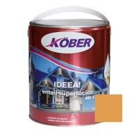 Vopsea alchidica pentru lemn / metal, Kober Ideea, interior / exterior, ocru luminos, 4 L