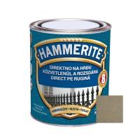 Vopsea alchidica pentru metal Hammerite - efect fier forjat, interior / exterior, aurie, 0.75 L