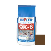Chit de rosturi gresie si faianta Adeplast Quarz Kit QK - 6, maro inchis, interior / exterior, 2 kg