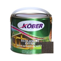 Lac / lazura 3 in 1 pentru lemn, Kober Ecolasure Extra, wenge, pe baza de apa, interior / exterior, 2.5 L
