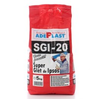Glet de finisaj Adeplast Super Glet, pe baza de ipsos, interior, 5 kg