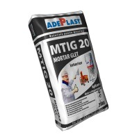 Mortar glet de ipsos, Adeplast MTIG 20, gri, interior, 30 kg