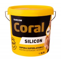 Vopsea superlavabila exterior, Coral, alba, 8.5 L