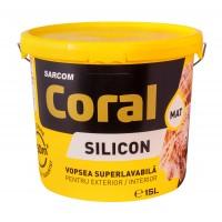Vopsea superlavabila exterior, Coral, alba, 15 L