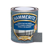 Vopsea alchidica pentru metal Hammerite - lovitura de ciocan, interior / exterior, gri / cenusiu, 2.5 L