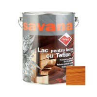 Lac pentru lemn Savana cu Teflon, cires, interior / exterior, 5 L