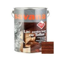 Lac pentru lemn Savana cu Teflon, mahon, interior / exterior, 5 L