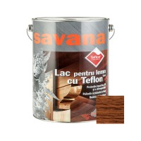 Lac pentru lemn Savana cu Teflon, tec, interior / exterior, 5 L