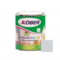 Vopsea acrilica pentru lemn / metal, Kober Ecolux Kolor, interior / exterior, pe baza de apa, gri deschis V82810, 0.75 L