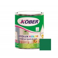 Vopsea acrilica pentru lemn / metal, Kober Ecolux Kolor, interior / exterior, pe baza de apa, verde V82521, 0.75 L