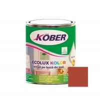 Vopsea acrilica pentru lemn / metal, Kober Ecolux Kolor, interior / exterior, pe baza de apa, maro roscat V82750, 0.75 L