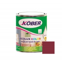 Vopsea acrilica pentru lemn / metal, Kober Ecolux Kolor, interior / exterior, pe baza de apa, rosu vin V823005, 0.75 L