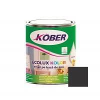 Vopsea acrilica pentru lemn / metal, Kober Ecolux Kolor, interior / exterior, pe baza de apa, negru V82900, 0.75 L