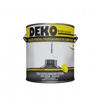 Vopsea acrilica pentru marcaj rutier Deko Proffesional, exterior, alba, 3.5 kg