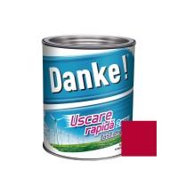 Vopsea alchidica pentru lemn / metal, Danke, exterior, rosu aprins, 0.75 L