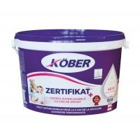 Vopsea lavabila interior, Kober Zertifikat Plus, alba, 3 L