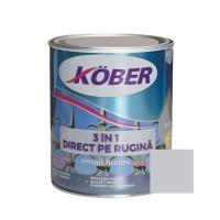 Vopsea alchidica pentru metal Kober 3 in 1, interior / exterior, argintiu, 0.75 L
