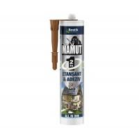 Adeziv pentru suprafete multiple, flexibil, interior / exterior, Mamut Universal 2 in1, maro, 290 ml