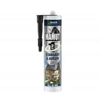 Adeziv pentru suprafete multiple, flexibil, interior / exterior, Mamut Universal 2 in 1, negru, 290 ml