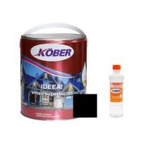 Vopsea alchidica pentru lemn / metal, Kober Ideea, interior / exterior, neagra, 4 L