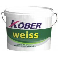 Vopsea lavabila interior, Kober Weiss, alba, 8.5 L