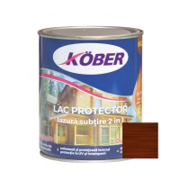 Lac / lazura subtire 2 in 1 pentru lemn, Kober, palisandru, interior / exterior, 0.75 L