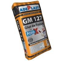 Glet de finisare Adeplast GM 127, cu Porus X, pe baza de ciment, interior, 20 kg