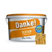 Tencuiala decorativa acrilica, interior / exterior, Danke Textur, orange accent, structurata, 25 kg