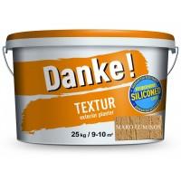 Tencuiala decorativa acrilica, interior / exterior, Danke Textur, maro luminos, structurata, 25 kg