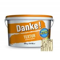 Tencuiala decorativa acrilica, interior / exterior, Danke Textur, crem luminos, structurata, 25 kg