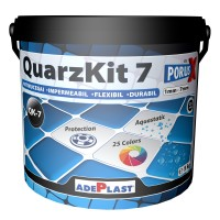 Chit de rosturi gresie si faianta Adeplast  QuarzKit 7, caramiziu inchis, interior / exterior, 5 kg