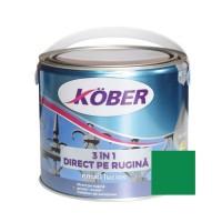 Vopsea alchidica pentru metal Kober 3 in 1, interior / exterior, verde, 2.5 L