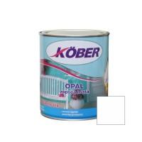 Vopsea alchidica pentru lemn / metal, Kober Opal, interior / exterior, alb, 0.75 L