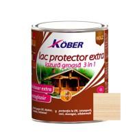 Lac / lazura extra 3 in 1 pentru lemn, Kober Extra, incolor, interior / exterior, 2.5 L