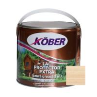 Lac / lazura groasa pentru lemn, Kober Extra 3 in 1, incolor, interior / exterior, 2.5 L