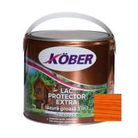 Lac / lazura groasa pentru lemn, Kober Extra 3 in 1, cires, interior / exterior, 2.5 L