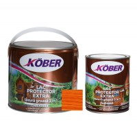 Lac / lazura groasa pentru lemn, Kober Extra 3 in 1, cires, interior / exterior, 2.5 L + 0.75 L