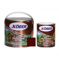 Lac / lazura groasa pentru lemn, Kober Extra 3 in 1, mahon, interior / exterior, 2.5 L + 0.75 L