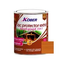 Lac / lazura extra 3 in 1 pentru lemn, Kober Extra, tec, interior / exterior, 0.75 L