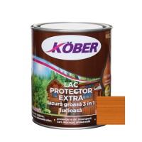 Lac / lazura groasa pentru lemn, Kober Extra 3 in 1, tec, interior / exterior, 0.75 L