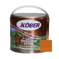 Lac / lazura groasa pentru lemn, Kober Extra 3 in 1, tec, interior / exterior, 2.5 L