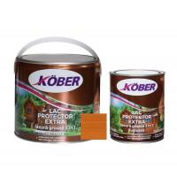 Lac / lazura groasa pentru lemn, Kober Extra 3 in 1, tec, interior / exterior, 2.5 L + 0.75 L