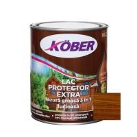 Lac / lazura groasa pentru lemn, Kober Extra 3 in 1, nuc, interior / exterior, 0.75 L