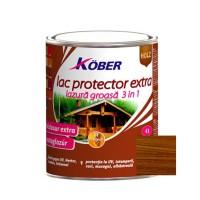 Lac / lazura extra 3 in 1 pentru lemn, Kober Extra, nuc, interior / exterior, 2.5 L
