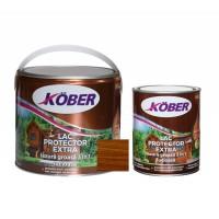 Lac / lazura groasa pentru lemn, Kober Extra 3 in 1, nuc, interior / exterior, 2.5 L + 0.75 L