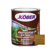 Lac / lazura groasa pentru lemn, Kober Extra 3 in 1, stejar inchis, interior / exterior, 0.75 L