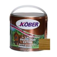 Lac / lazura groasa pentru lemn, Kober Extra 3 in 1, stejar inchis, interior / exterior, 2.5 L