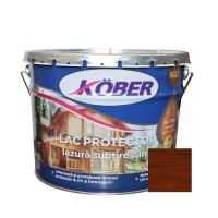 Lac / lazura subtire 2 in 1 pentru lemn, Kober, palisandru, interior / exterior, 10 L
