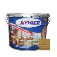 Lac / lazura subtire 2 in 1 pentru lemn, Kober, stejar inchis, interior / exterior, 10 L