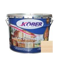 Lac / lazura subtire 2 in 1 pentru lemn, Kober, incolor, interior / exterior, 10 L
